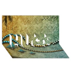 Elegant Vintage With Pearl Necklace Hugs 3d Greeting Card (8x4)