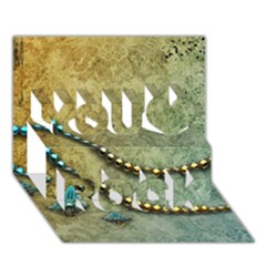 Elegant Vintage With Pearl Necklace You Rock 3d Greeting Card (7x5)