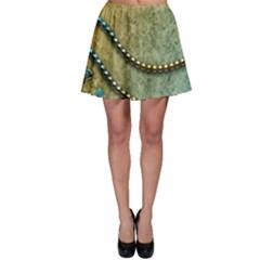 Elegant Vintage With Pearl Necklace Skater Skirts