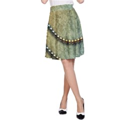 Elegant Vintage With Pearl Necklace A-Line Skirts