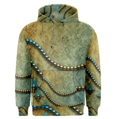 Elegant Vintage With Pearl Necklace Men s Pullover Hoodies