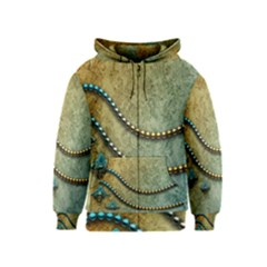 Elegant Vintage With Pearl Necklace Kids Zipper Hoodies