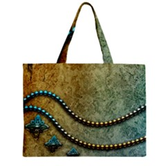 Elegant Vintage With Pearl Necklace Zipper Tiny Tote Bags