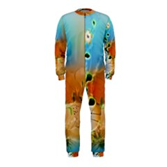 Wonderful Flowers In Colorful And Glowing Lines OnePiece Jumpsuit (Kids)