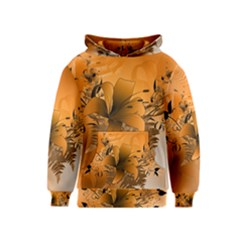 Awesome Summer  Flowers In Soft Red And Yellow Kid s Pullover Hoodies