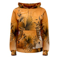 Awesome Summer  Flowers In Soft Red And Yellow Women s Pullover Hoodies