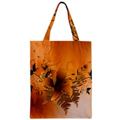 Awesome Summer  Flowers In Soft Red And Yellow Zipper Classic Tote Bags