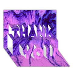 Special Fireworks Pink,blue THANK YOU 3D Greeting Card (7x5)