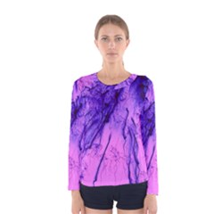 Special Fireworks Pink,blue Women s Long Sleeve T-shirts