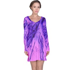 Special Fireworks Pink,blue Long Sleeve Nightdresses