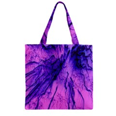 Special Fireworks Pink,blue Zipper Grocery Tote Bags