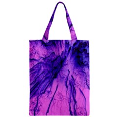 Special Fireworks Pink,blue Zipper Classic Tote Bags