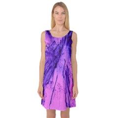 Special Fireworks Pink,blue Sleeveless Satin Nightdresses