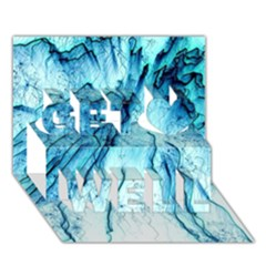 Special Fireworks, Aqua Get Well 3D Greeting Card (7x5)
