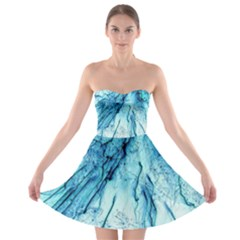 Special Fireworks, Aqua Strapless Bra Top Dress