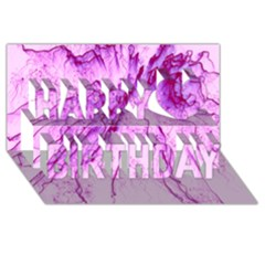 Special Fireworks, Pink Happy Birthday 3D Greeting Card (8x4)