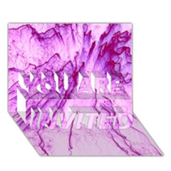 Special Fireworks, Pink YOU ARE INVITED 3D Greeting Card (7x5)