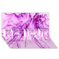 Special Fireworks, Pink BELIEVE 3D Greeting Card (8x4)