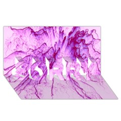 Special Fireworks, Pink SORRY 3D Greeting Card (8x4)