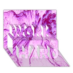 Special Fireworks, Pink Work Hard 3d Greeting Card (7x5)