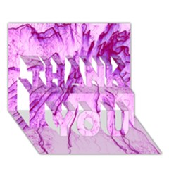 Special Fireworks, Pink Thank You 3d Greeting Card (7x5)