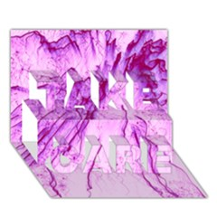 Special Fireworks, Pink TAKE CARE 3D Greeting Card (7x5)