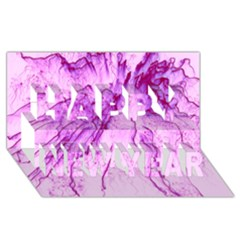 Special Fireworks, Pink Happy New Year 3d Greeting Card (8x4)