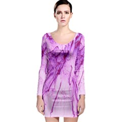 Special Fireworks, Pink Long Sleeve Bodycon Dresses