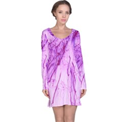 Special Fireworks, Pink Long Sleeve Nightdresses