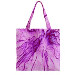 Special Fireworks, Pink Zipper Grocery Tote Bags