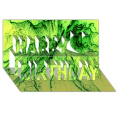 Special Fireworks, Green Happy Birthday 3D Greeting Card (8x4)