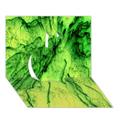Special Fireworks, Green Apple 3d Greeting Card (7x5)