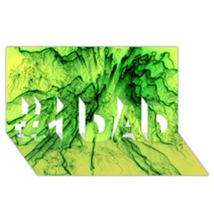 Special Fireworks, Green #1 Dad 3d Greeting Card (8x4)