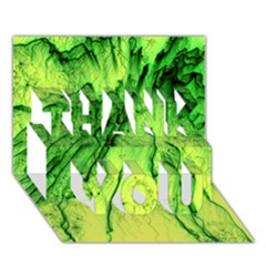 Special Fireworks, Green Thank You 3d Greeting Card (7x5)