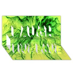Special Fireworks, Green Laugh Live Love 3D Greeting Card (8x4)