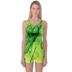 Special Fireworks, Green Women s Boyleg One Piece Swimsuits