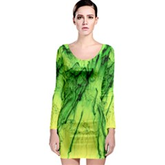 Special Fireworks, Green Long Sleeve Bodycon Dresses