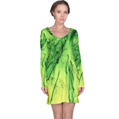 Special Fireworks, Green Long Sleeve Nightdresses