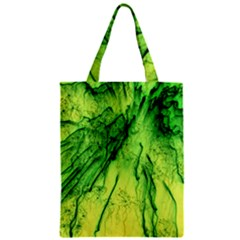 Special Fireworks, Green Zipper Classic Tote Bags