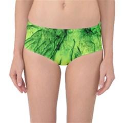 Special Fireworks, Green Mid-Waist Bikini Bottoms