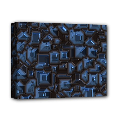 Metalart 23 Blue Deluxe Canvas 14  x 11