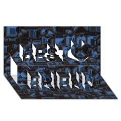 Metalart 23 Blue Best Friends 3d Greeting Card (8x4)