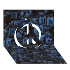 Metalart 23 Blue Peace Sign 3D Greeting Card (7x5)