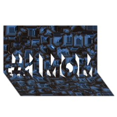 Metalart 23 Blue #1 MOM 3D Greeting Cards (8x4)