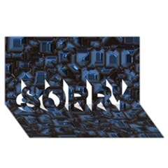 Metalart 23 Blue Sorry 3d Greeting Card (8x4)