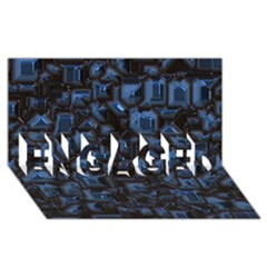 Metalart 23 Blue ENGAGED 3D Greeting Card (8x4)