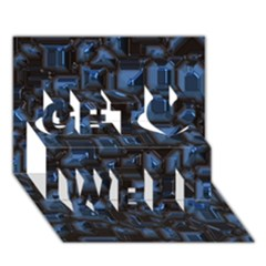 Metalart 23 Blue Get Well 3D Greeting Card (7x5)