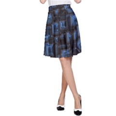 Metalart 23 Blue A-Line Skirts