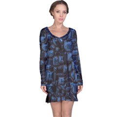Metalart 23 Blue Long Sleeve Nightdresses