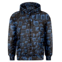 Metalart 23 Blue Men s Zipper Hoodies